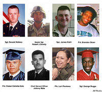Members the 507th Maintenance Company who were killed March 23, 2003