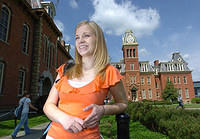 Jessica Lynch on the West Virginia University campus in April.