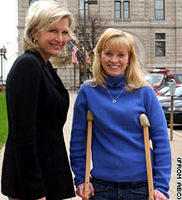 Former POW Jessica Lynch and Diane Sawyer